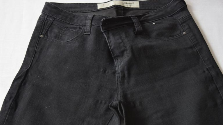 The size 10 jeans found on the woman