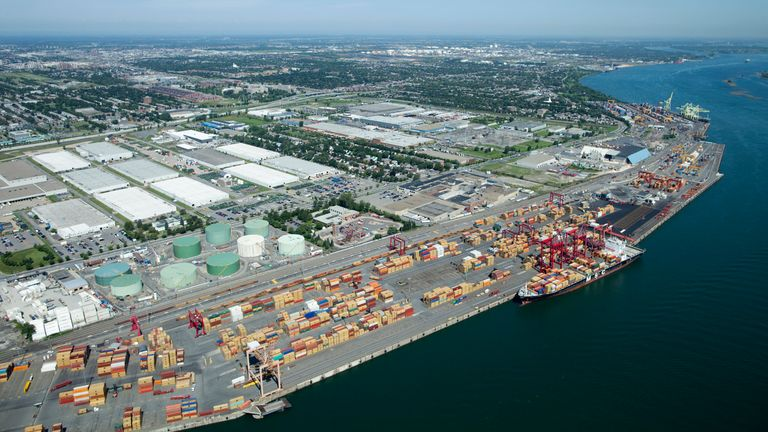 Bourassa had the paper delivered to the Port of Montreal in Canada