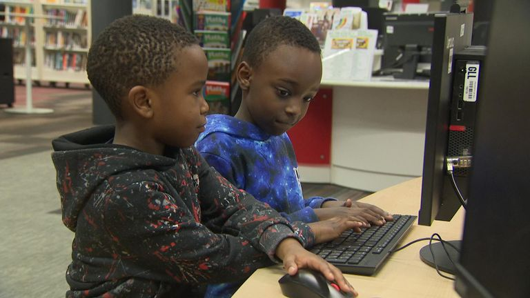Mr Zikusoka's sons spend most of their time in their local library