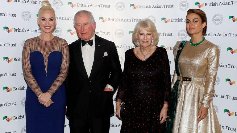 Katy Perry, Prince Charles, the Duchess of Cornwall and Natasha Poonawalla