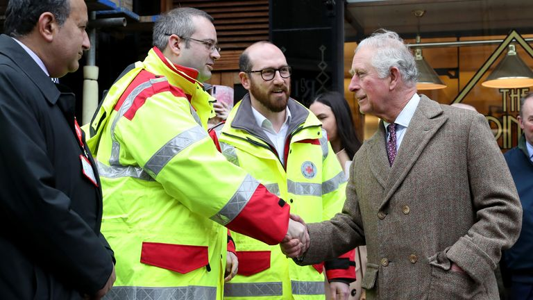 Prince Charles thanks emergency service workers
