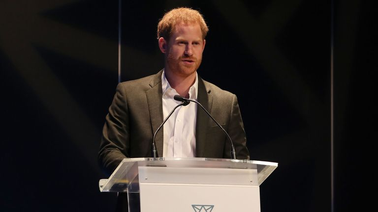 Prince Harry at sustainable tourism summit