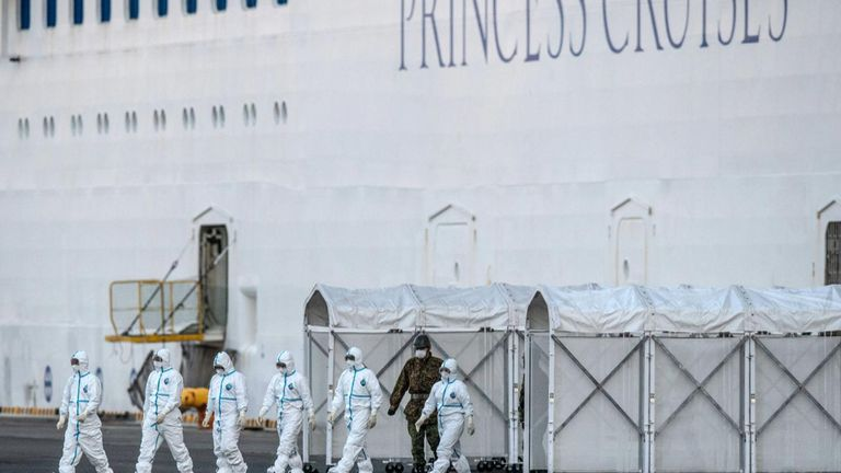 At least 135 passengers have contracted coronavirus on the Diamond Princess, which is quarantined off the coast of Japan