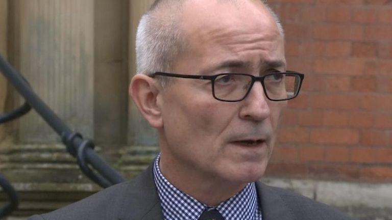 Vice-Chancellor Professor Charlie Jeffery reads a statement on coronavirus