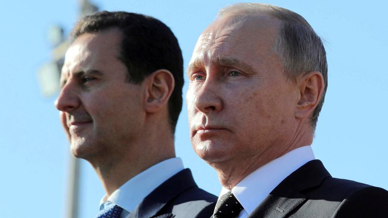 Putin and Assad are long-standing allies in the Syrian conflict