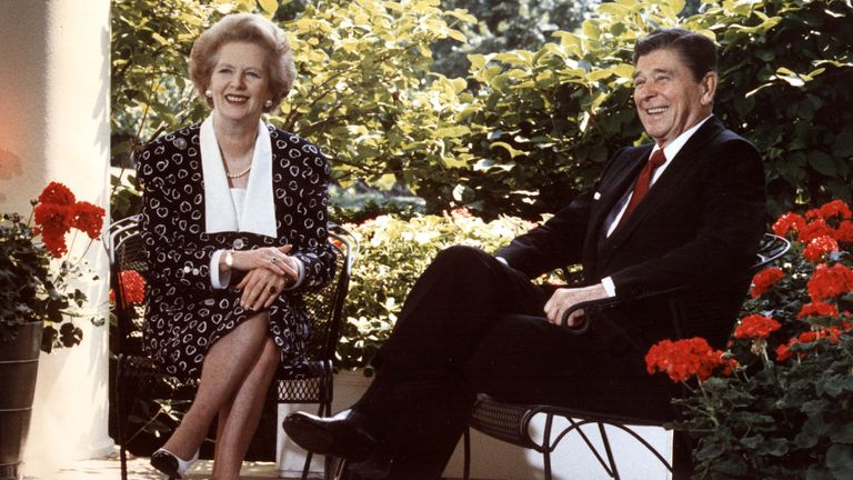 Thatcher and Reagan Oval Office