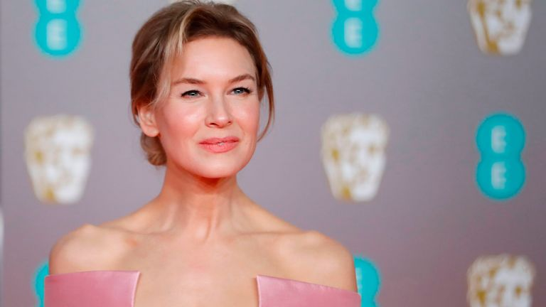 Judy star Renee Zellweger at the BAFTAs