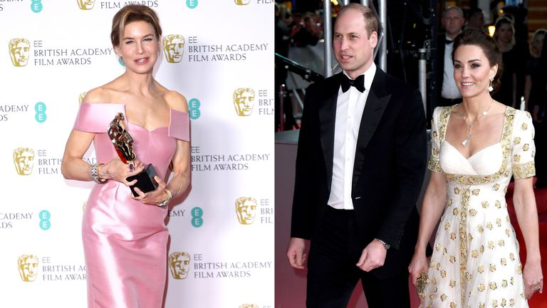 Renee Zellweger and the Duke and Duchess of Cambridge