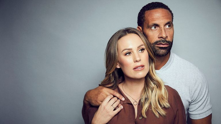 Rio Ferdinand and Kate Wright in the BBC One documentary Rio And Kate: Becoming A Step Family