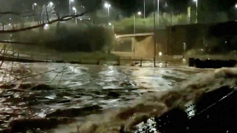 Storm Dennis has brought major disruption to parts of the UK, including Pontypridd, in Wales.
