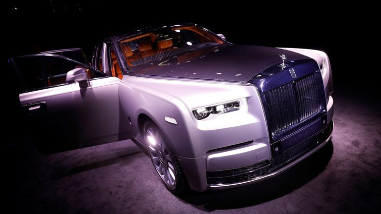 The new Rolls-Royce Phantom is premiered at an event at Bonhams and in conjunction with an exhibition of previous models of the car, in London, Britain July 27, 2017