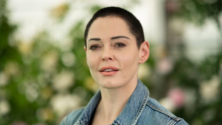 HAY-ON-WYE, WALES - JUNE 2: Rose McGowan, film-maker and author of 'Brave', at the Hay Festival on June 2, 2018 in Hay-on-Wye, Wales. (Photo by David Levenson/Getty Images)