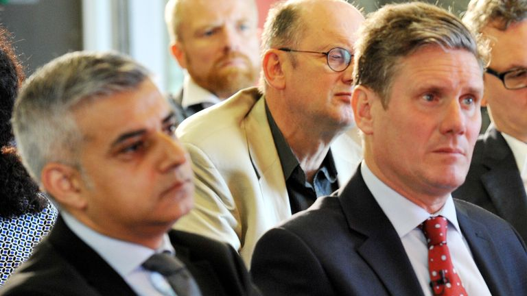 Sadiq Khan and Sir Keir Starmer