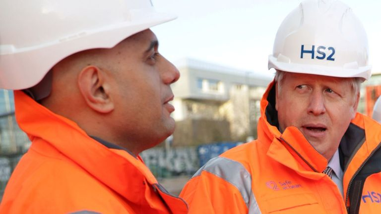 Sajid Javid and Boris Johnson