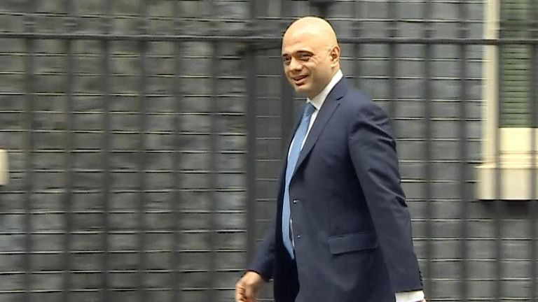 Sajid Javid arrives at Number 10 Downing Street before news of his resignation is released