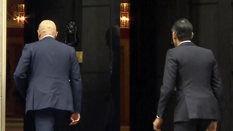 Sajid Javid arrives at Number 10... and so does the man who will replace him