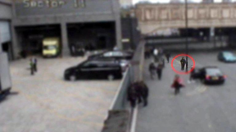 CCTV Salman Abedi outside Manchester Arena