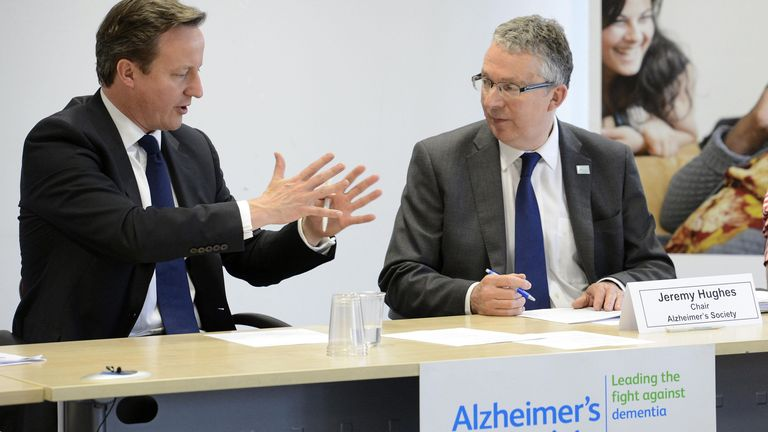 Jeremy Hughes pictured with former prime minister David Cameron in 2012