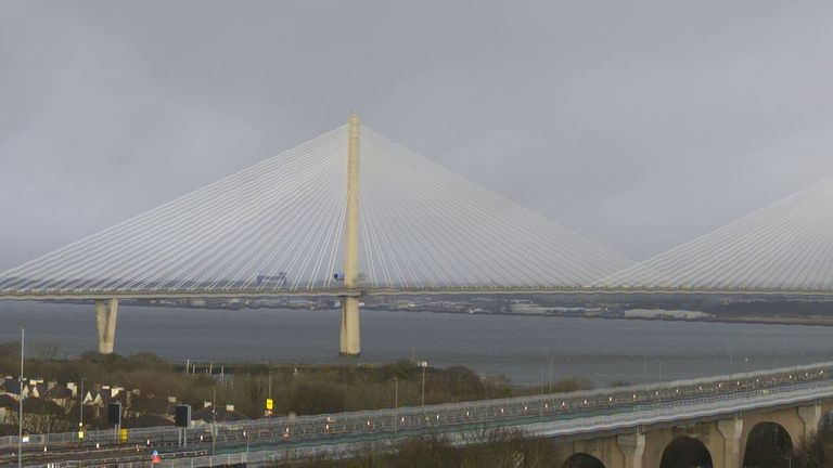 Queensferry Bridge in Scotland is closed to traffic. Pic: The Forth Bridges