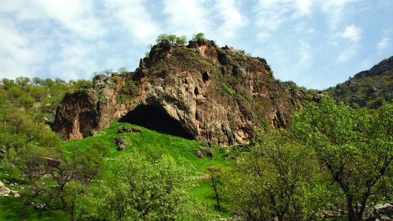 The Shanidar Cave is in northern Iraq
