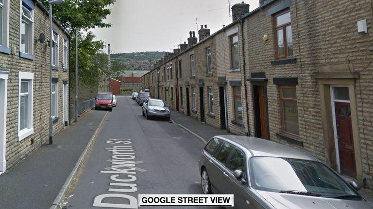 Emergency crews discovered the man's body at a property in Duckworth Street in Shaw, Oldham