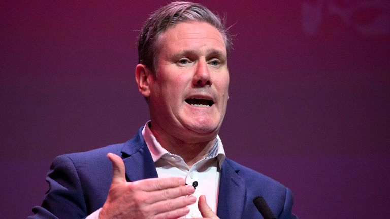 Sir Keir Starmer speaking during the Labour leadership hustings at the SEC centre, Glasgow.
