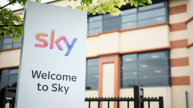 LONDON, ENGLAND - MAY 09: A general view of the SKY headquarters in Isleworth on May 9, 2017 in London, England. The independent communications regulator Ofcom is currently examing a bid worth £11.7bn for the UK broadscaster from Rupert Murdoch's 21st Century