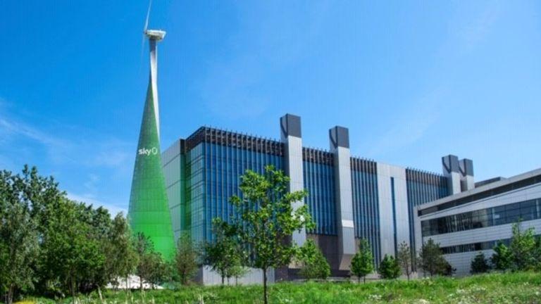 Sky green wind turbine
