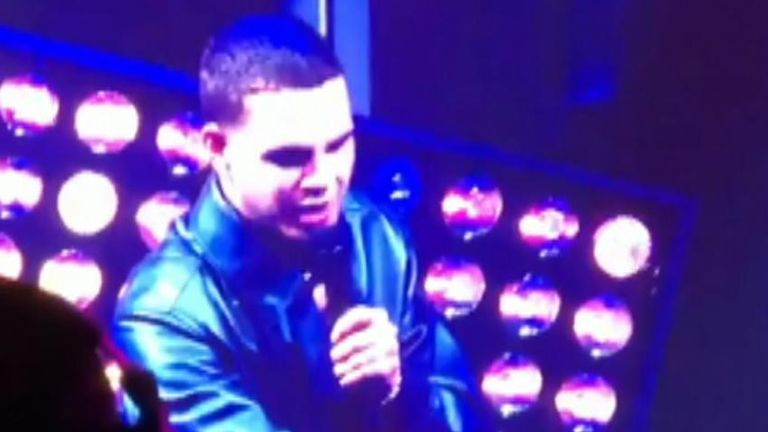 Rapper Slowthai argues with heckler at NME Awards