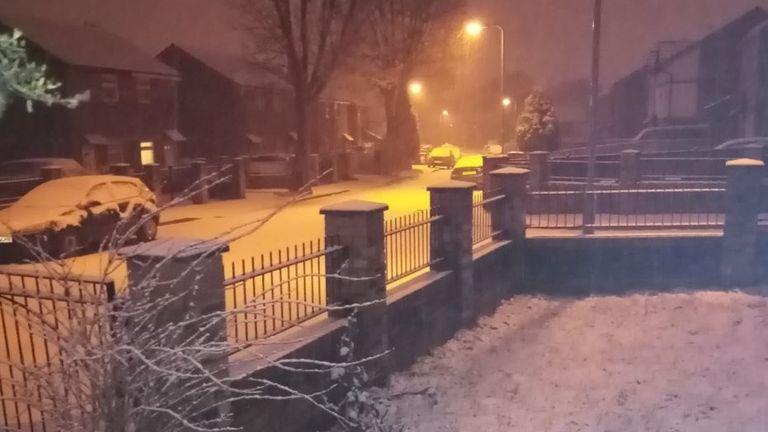 Snow in Lower Grange, Bradford