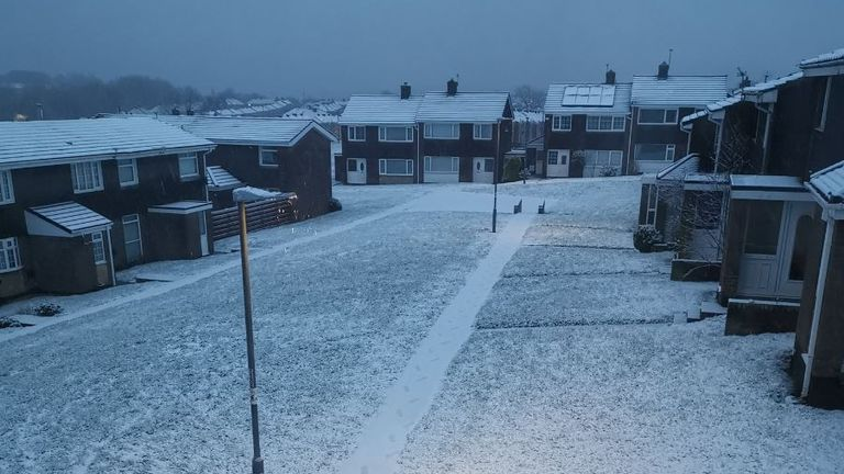 Snow in County Durham. Pic: @H_Oneturtle
