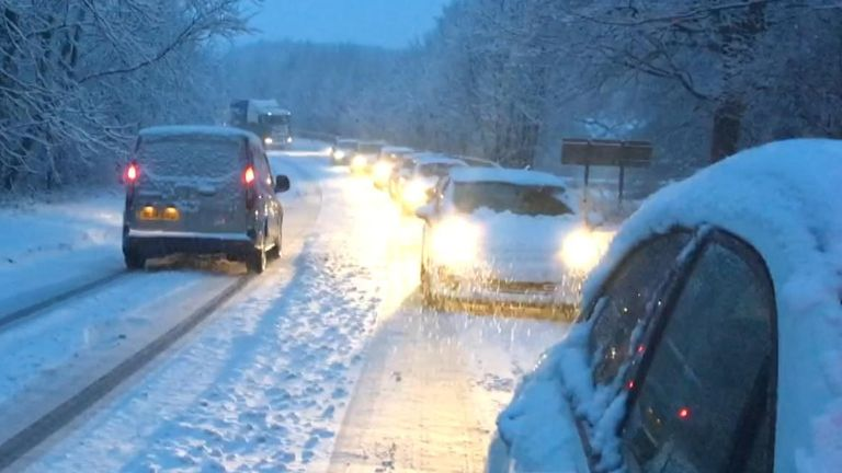 Thousands of Britons faced a challenging commute to work on Monday morning