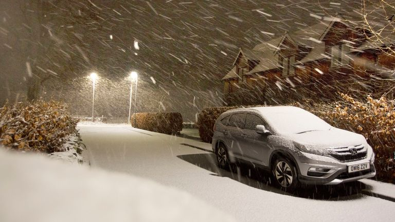 Up to four inches of snow is expected for parts of Britain next week. File pic