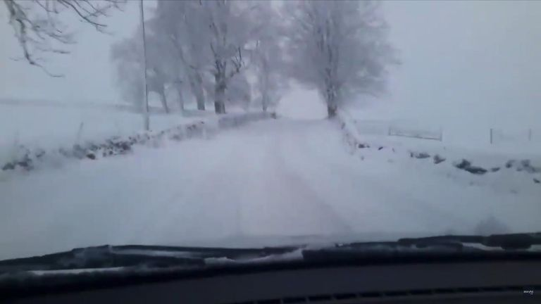 Picturesque Yorkshire blanketed in snow