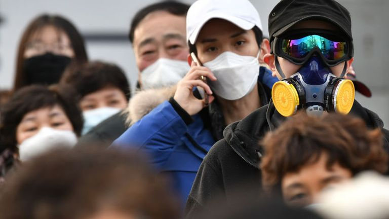 South Korea has the most cases of the virus after China