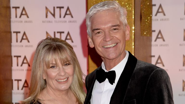 Stephanie Lowe and Phillip Schofield attend the National Television Awards 2020 at The O2 Arena on 28 January 2020 in London