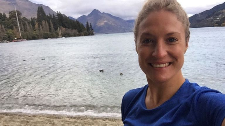 Ms Simpson planned to go hiking on the South Island over the weekend
