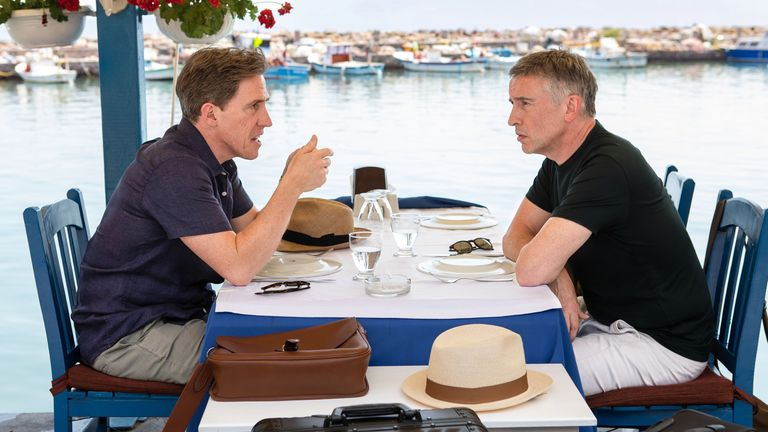 Steve Coogan and Rob Brydon in The Trip To Greece. Pic: Andy Hall