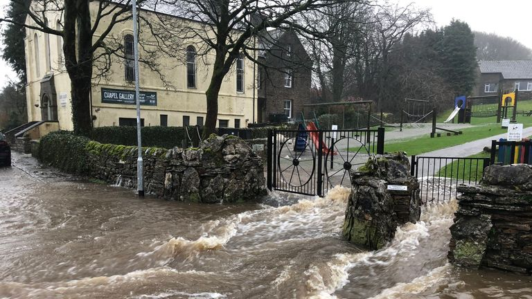 Flooding in Hawes, North Yorkshire