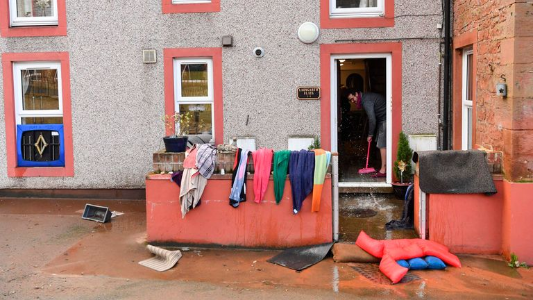 The clean-up begins in Appleby-in-Westmorland