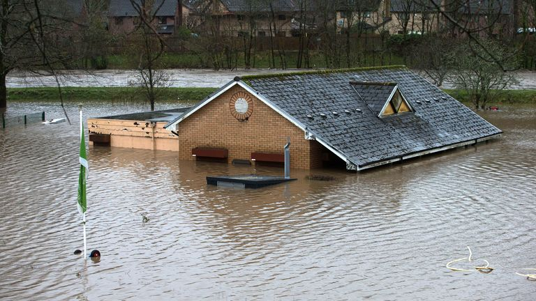 The nursery and bowls club alongside the River Taff north of Cardiff in south Wales. Pic: Gareth Everett/Huw Evans/Shutterstock