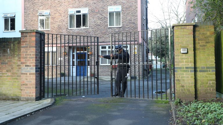 A property - believed to be a bail hostel - was cordoned off