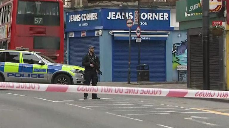 Streatham High Road is closed after a terror attack