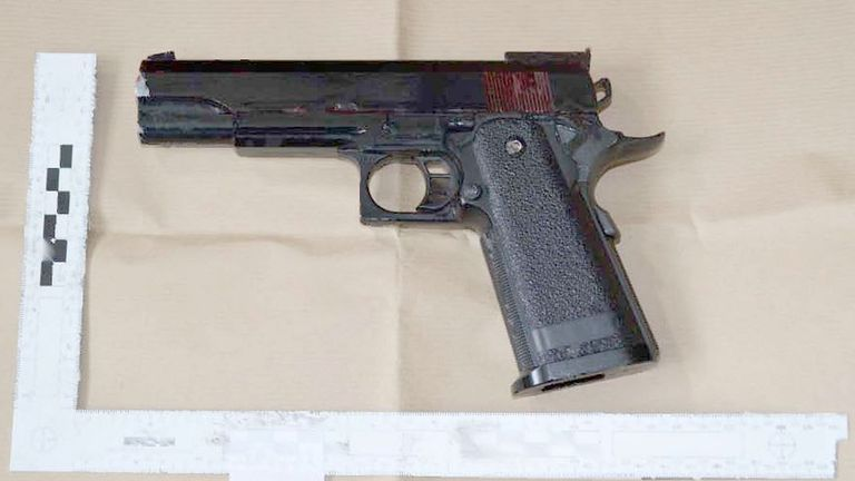 An airgun was recovered from Amman's home after he was arrested in 2018
