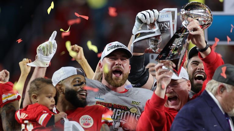 The Kansas City Chiefs celebrate their first Super Bowl victory in 50 years