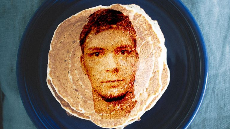 Unsavoury characters? Suspects appear on pancakes