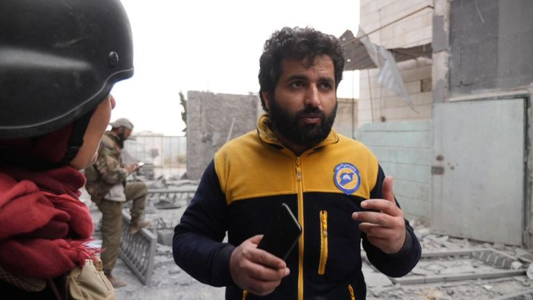 Ismail al Abdullah, a White Helmets member, said 'why is no one listening to the Syrian people?'