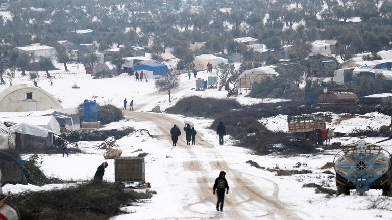 Millions of people have been displaced in Syria, where  winters can be harsh