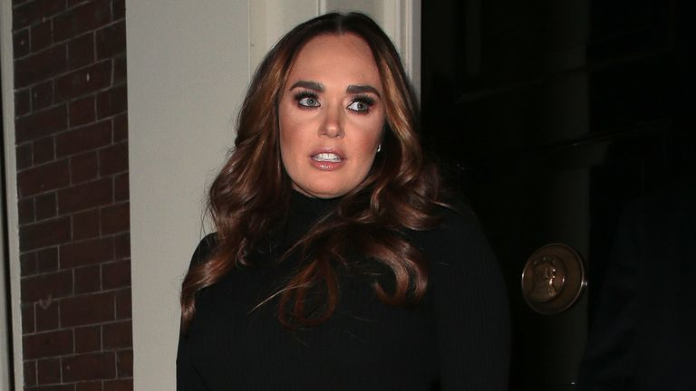 Tamara Ecclestone and her husband Jay Rutland seen on a night out at Arts Club in Mayfair on January 28, 2019 in London
