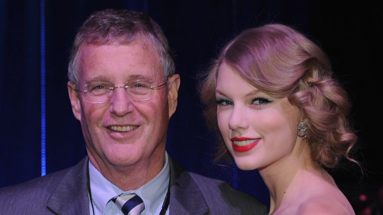Taylor Swift with her father, Scott Swift